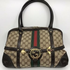 GUCCI Vintage Handbag Embellished With Bumble bee